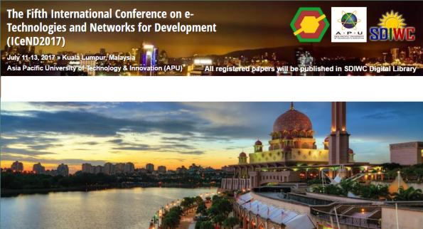 Fifth International Conference on e-Technologies and Networks for Development