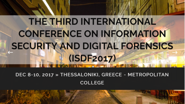 Third International Conference on Information  Security and Digital Forensics